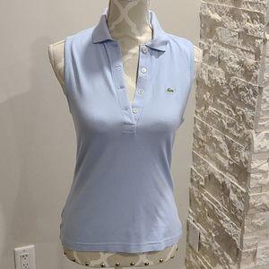 Lacoste Light periwinkle blu sleeveless polo shirt